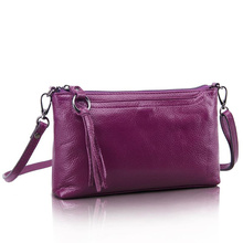 New first layer cow skin women messenger bag pure genuine leather ladies shoulder bags candy color real leather mini bag AWM130