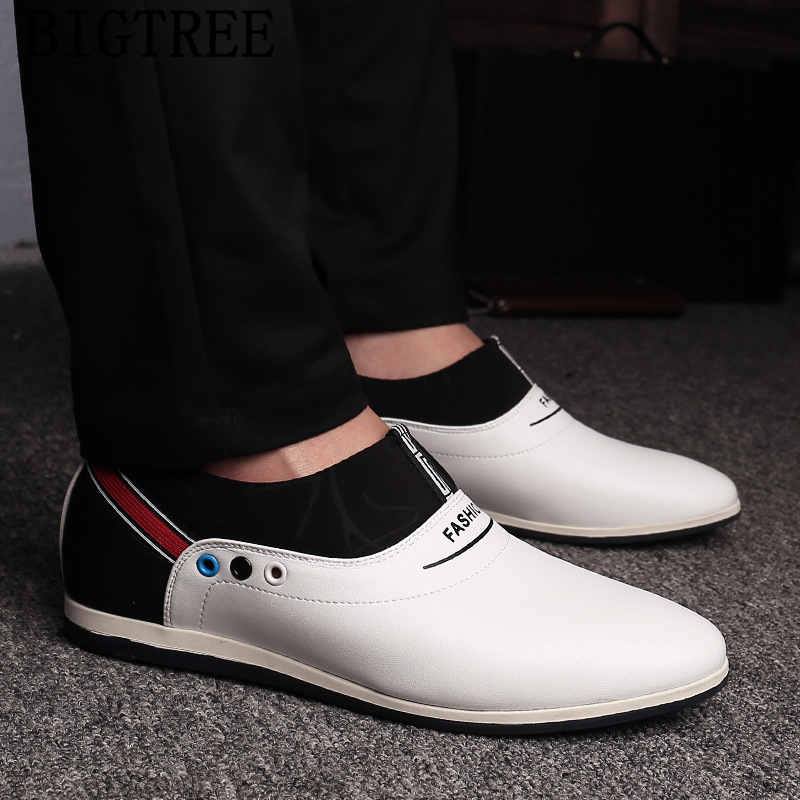 Elevator Shoes For Men Casual Shoes Men Leather Sepatu Slip On Pria Designer Shoes Men High Quality Zapatillas Hombre Ayakkabi