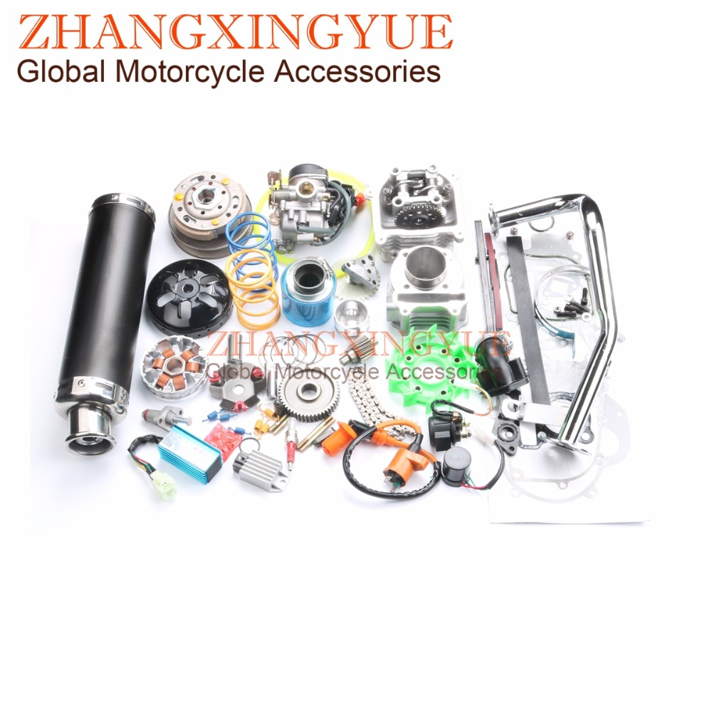 US $346 99  47mm 80cc Big Bore Performance Kit 9 holes Cam AC CDI 20mm  Carburetor for GY6 50cc 139QMB 1P39QMA 4T 6 colors available-in Engine  Cooling