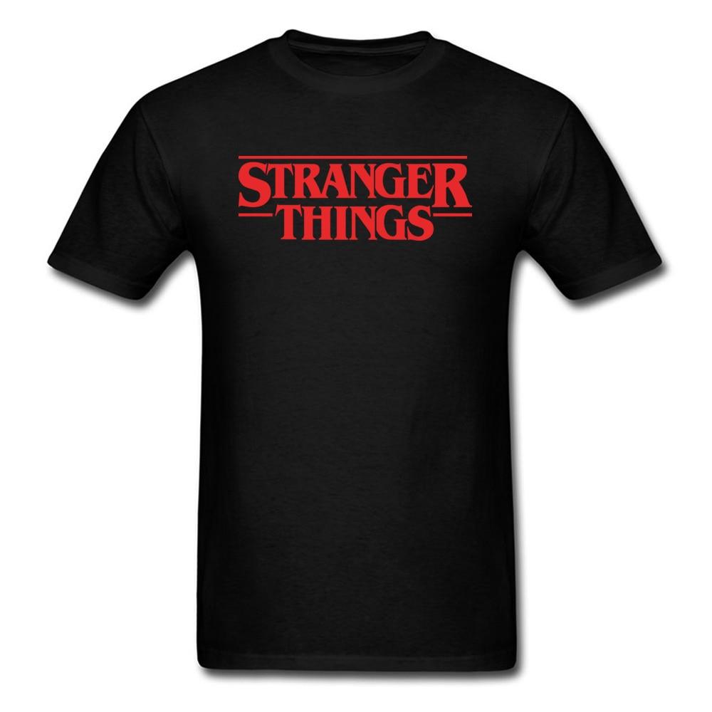 Brand New Stranger Things T-shirt Men Red Black Letter T Shirt 90s Own Logo Tshirt Custom Shop Top Tee Clothing TV Show