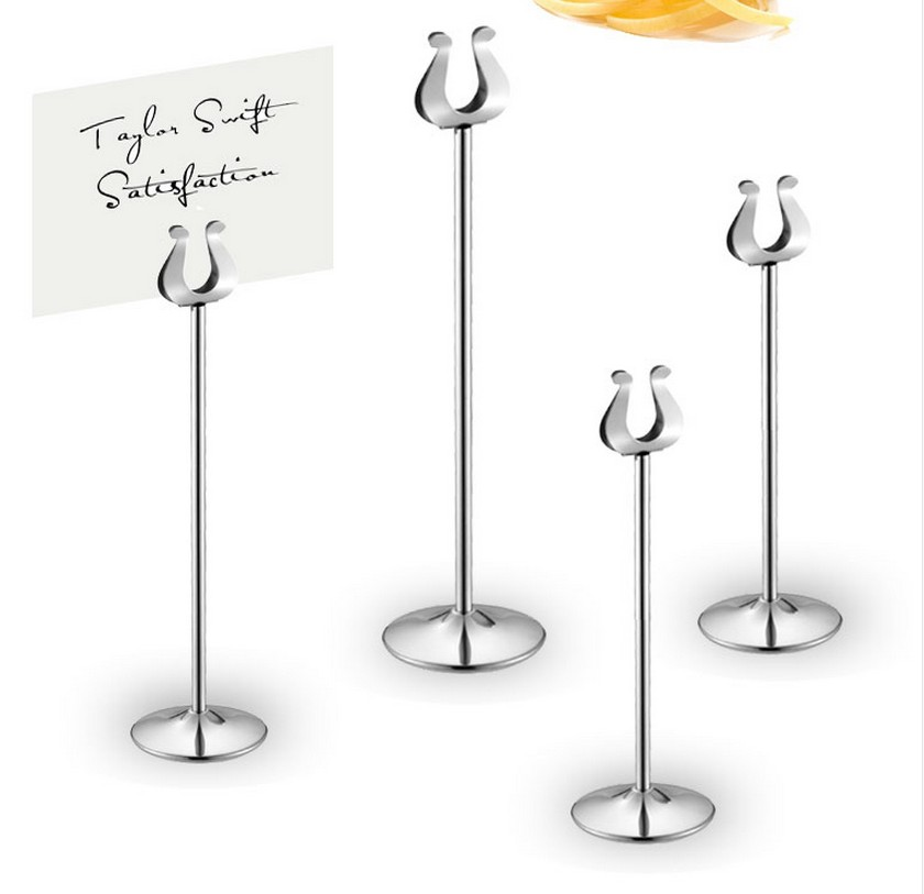 table number holder gold silver wedding table card holders ...