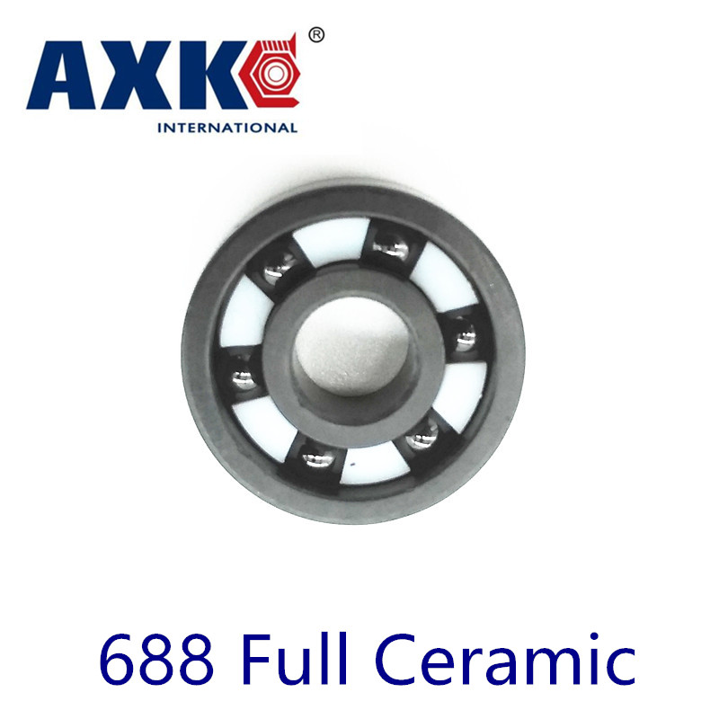 2018 Rolamentos Axk 688 Full Ceramic Bearing ( 1 Pc ) 8*16*4 Mm Si3n4 Material 688ce All Silicon Nitride 618/8 Ball Bearings цены