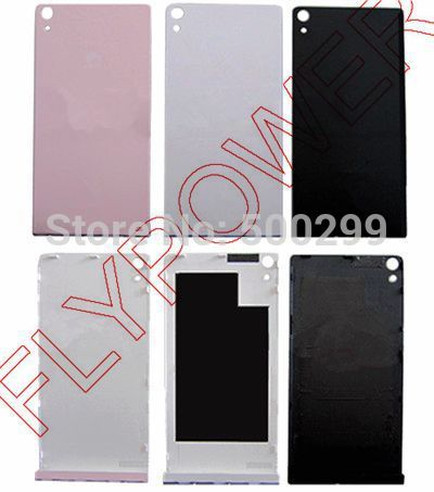 For Huawei Ascend P6 back cover, battery cover with free Buttom Cap Cover Case by free shipping; Telecom version