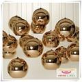 Banhado a bola de vidro lustre arte moderna iluminação chapeamento luzes bola de prata dourada bronze lâmpada bola de vidro