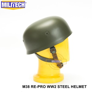 Image 5 - MILITECH OD WW2 German M38 Steel Helmet WW II M38 Green German Paratroop Helmet Genuine Leather World War 2 German M38 Helmet