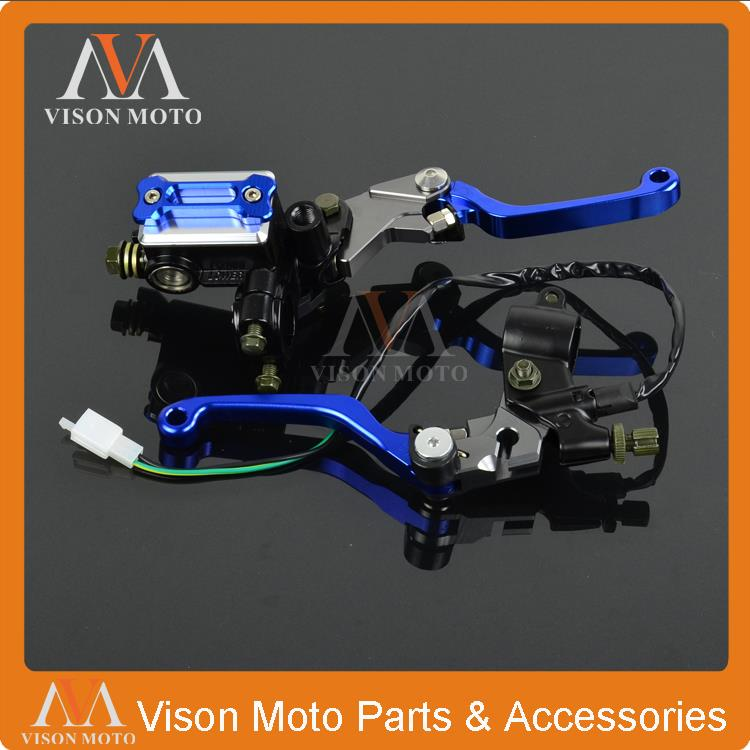 CNC Brake Lever Master Cylinder + Cable Clutch Perch For Yamaha WR250F WR450F WR250X WR250R TTR250 DT250 MX Enduro Dirt Bike