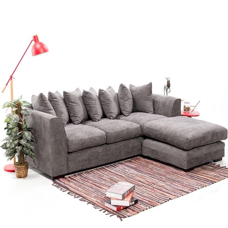 Corner Sofa Left And Right: Corner Sofa Right And Left Chenille Fabric Sofa Set