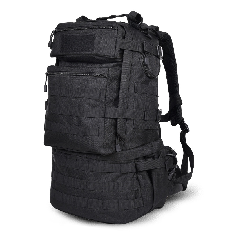ФОТО Hot Sale Men and Women Casual Mountaineering Backpack Male Camouflage Shoulder Bag 45L Large Capacity Backpacks