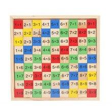Table de Multiplication 99 jouets de mathématiques en bois Montessori, aide pédagogique de mathématiques et d'arithmétique pour enfants et bébés