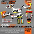 Custom Team Graphics & Backgrounds Decals 3M Stickers For KTM SX SXF 2003 2004 2006 EXCF XCW EXC 2005 2006 2007 Free Shipping