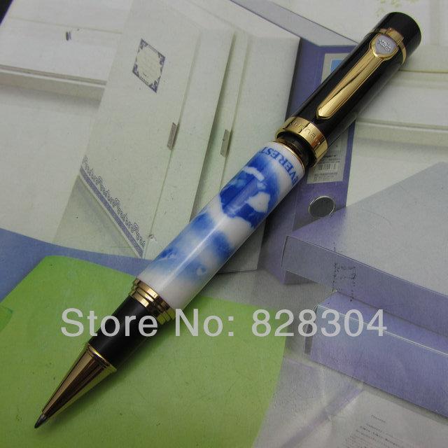 En gros Jin Hao sentiment lourd bleu et blanc à motifs moyenne plume rouleau stylo livraison gratuite
