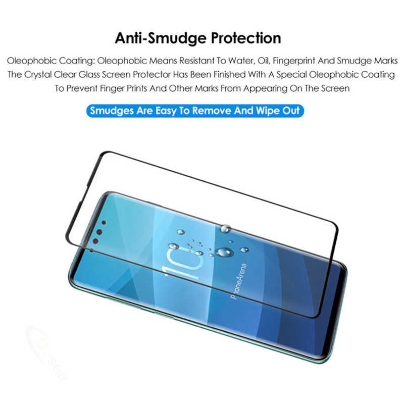 Cristal templado Protector curvado 3D para Samsung Galaxy S10e S10 Plus Lite luz lait cubierta completa Protector de pantalla verre