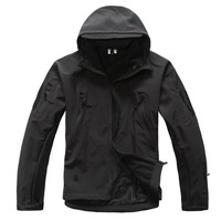 Army Military Tactical Jacket Tad SoftShell Shark Skin Waterproof Windbreaker Thick Warm Fleece Jacket Outwear Male