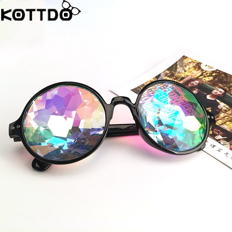 45a14ce30af1 KOTTDO Kaleidoscope Glasses kids Holographic Sunglasses children Rave  Festival Cosplay Glasses Party Children Sun Glasses-in Sunglasses from  Mother   Kids ...