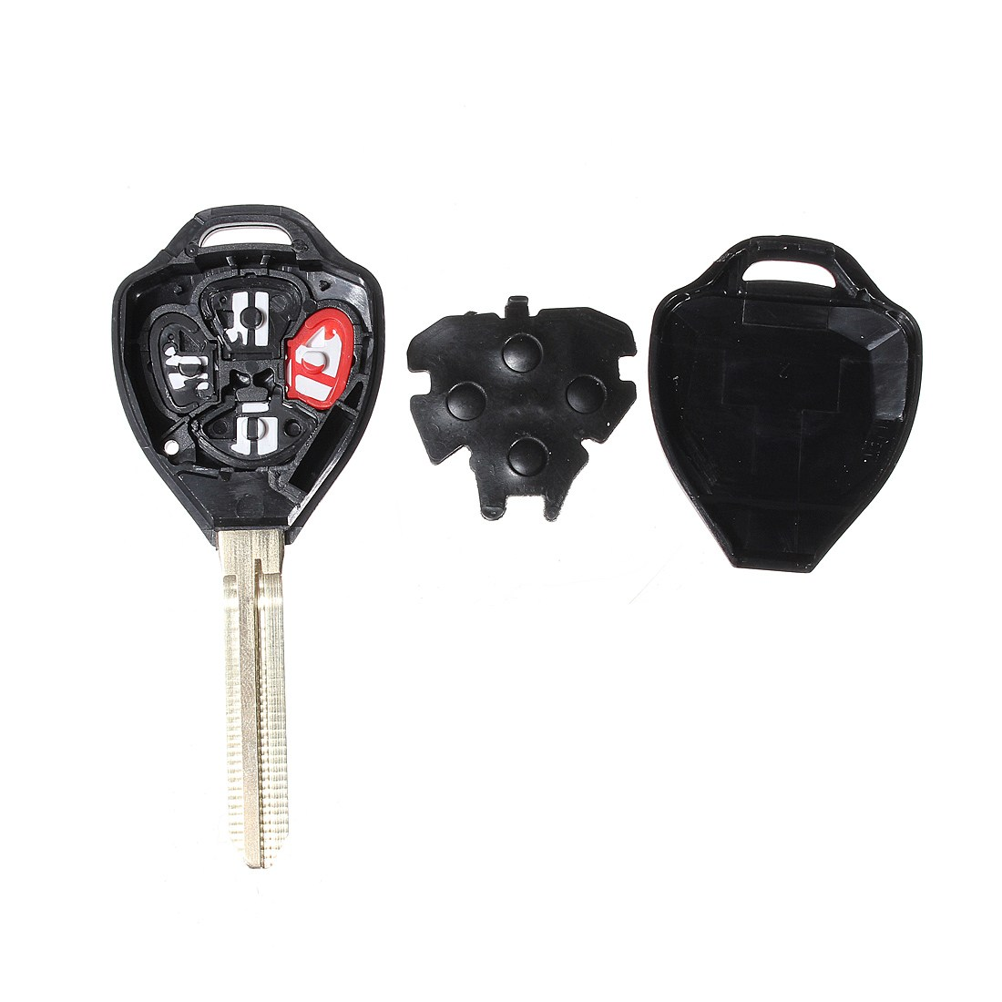 4 Button Remote Key Case Cover Shell Fob w/ Uncut Blade For TOYOTA Corolla 2008 2009 2010 2011 2012