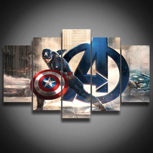 Enmarcado HD impreso película super héroe Avenger Capitán América ...