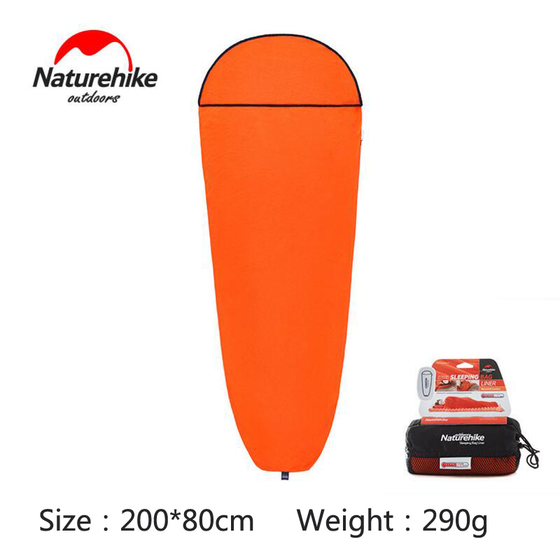 Naturehike Sleeping Bag Liner Polyester Folding Portable Leisure Tourism Sleeping Bag For Tourists Outdoor Camping Travel in Sleeping Bags from Sports Entertainment