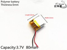 3.7V 80mAh 501515 Lithium Polymer LiPo Rechargeable Battery ion cells For Mp3 Mp4 Mp5 DIY PAD DVD E-book bluetooth headset
