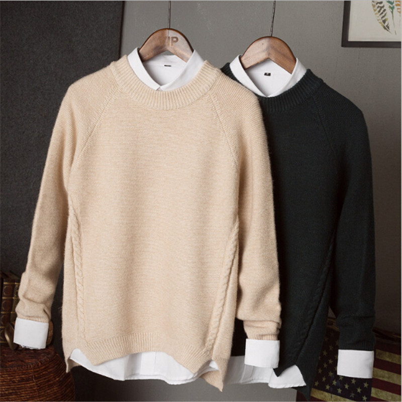 2018 New MenS Brand Casual Sweater Men Winter Quality Thick Cashmere Sweater Men Wool Kn ...