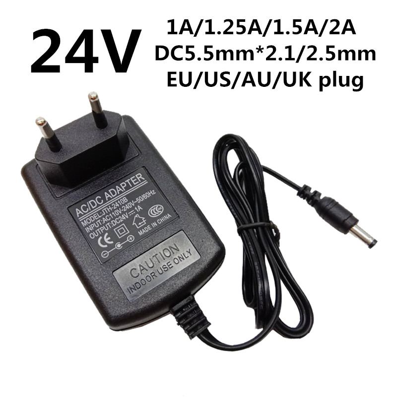 Black Power Adapter Charger Switching Power Supply AC DC 5V 2A UK//US//EU//AU