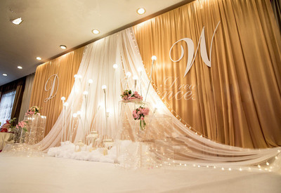 Gold Wedding Backdrop Curtain Swags Paillette Drape For Wedding Party Decoration 10FTX20FT Birthday Party Decor Photo Curtains