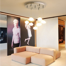 Modern creativity luxury glass ceiling light living room lamp bedroom fixture hotel commercial decorative