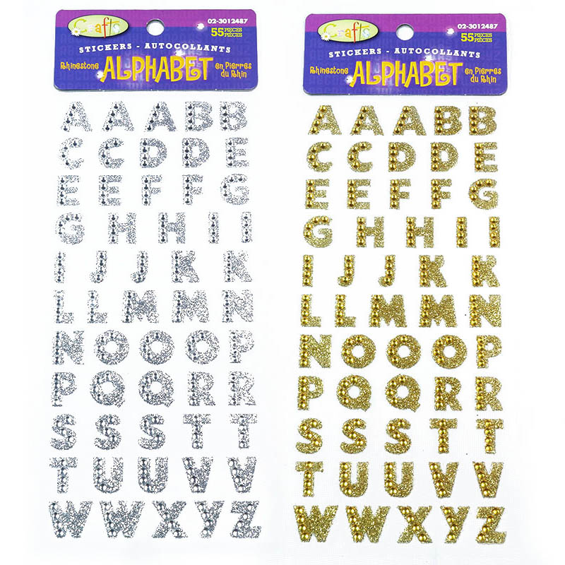 1sheet Alphabet Rhinestone Self Adhesive Scrapbooking Stickers Clothing Accessories DIY PC Phone Decor English Letters Sticker