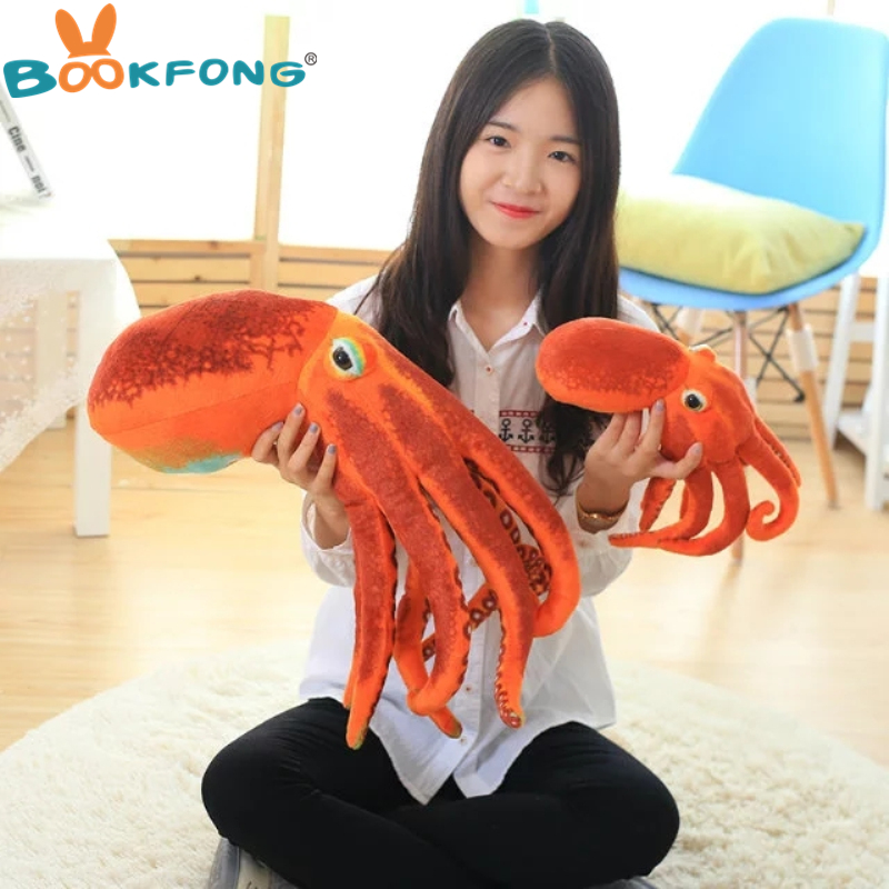 BOOKFONG Octopus Plush Toys Dolls the cute Pillow Seat Cushion Backrest the stuffed toys for children Christmas gifts bookfong octopus plush toys dolls the cute pillow seat cushion backrest the stuffed toys for children christmas gifts