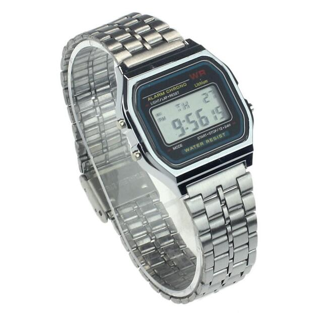NEW Luxury Stainless Steel Digital Alarm Stopwatch