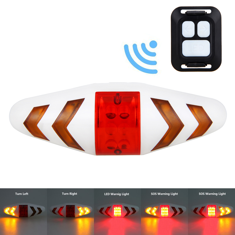 Smart Remote Control Bike Lamp Wireless Rear Light Bicycle Seat Mount LED Warning Taillight Turning Control Signal Tail Lamp