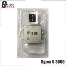 معالج لوحدة المعالجة المركزية AMD Ryzen 5 3600 R5 3600 3.6 GHz ستة النواة اثني عشر خيط 7NM 65W L3 = 32M 100 000000031 مقبس AM4 جديد ولكن بدون مروحة