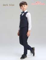 2016 Big Boys Vest Clothing Set children boys Vest leisure Clothes Kids Wedding prom Suits Christmas costumes for boys tie SHIRT