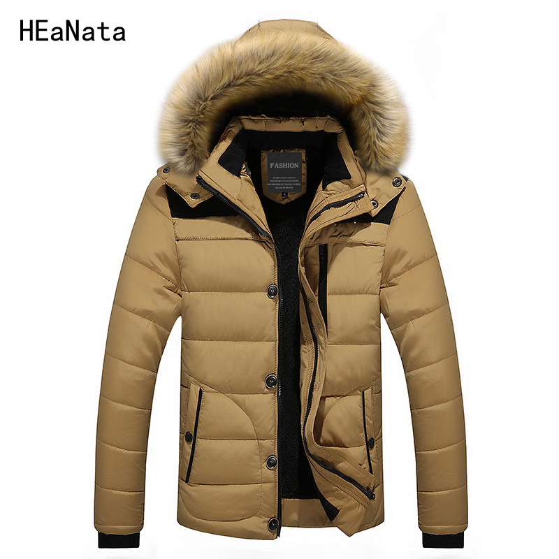 FIT -30 'C Winter Jacket Men New Hooded Parka Coat Men Down Keep Warm Fur Collar Fashion Down Jacke M-4XL 5XL 6XL