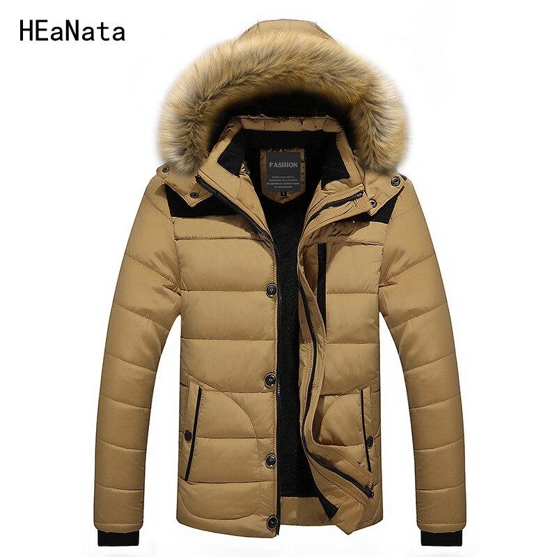 FIT -30 'C Winter Jacket Men New Hooded Parka Coat Men Down Keep Warm Fur Collar Fashion Down Jacke M-4XL 5XL 6XL