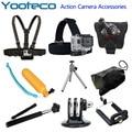 Sj4000 Gopro Acessórios, Flutuar Bobber + Selfie monopé + Mão + Cabeça + Chest Strap + Adapter, Para Go Pro Hero 4 3 2 SJCAM SJ4000 SJ5000 Além disso SJ6000 câmera esporte