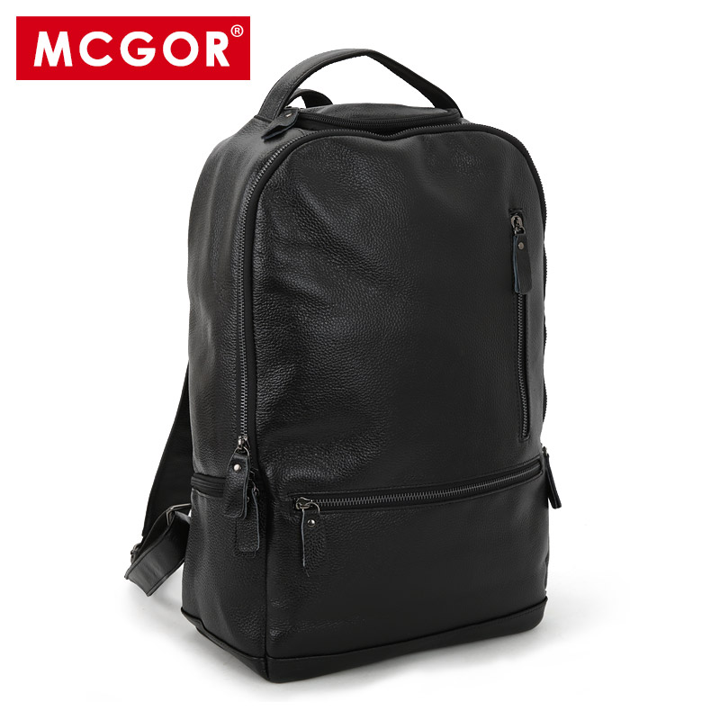 Free shipping new 2017 genuine leather backpack men casual travel bag first layer of cowhide laptop shoulder bags items BP140 7071lc free shiping 2015 brand genuine leather travel bag first layer of cowhide travel bags for men tote bag