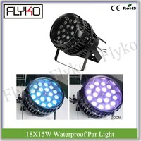 outdoor led par can 18PCS 15W 5in1 RGBWA waterproof IP65 zoom function par light