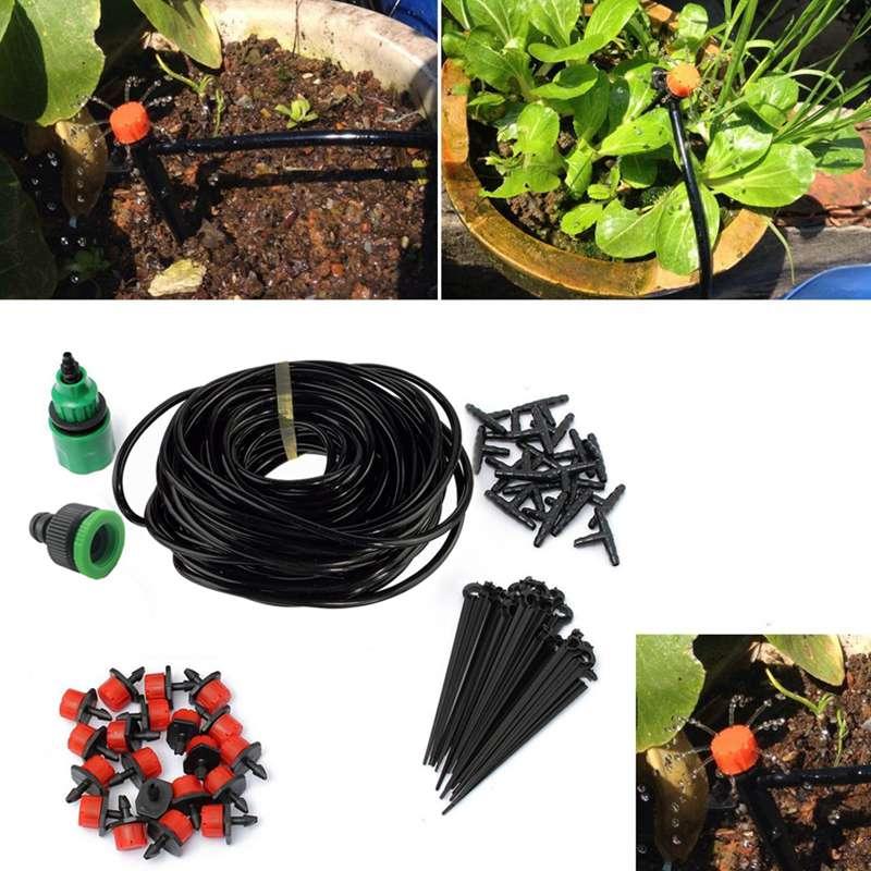 новый 5 м/15 м/25 м для DIY системы капельного полива автоматический завод самостоятельная полив садовый шланг микро системы капельного полива сада