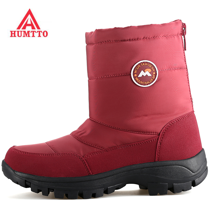 HUMTTO Women's Winter Outdoor Hiking Trekking Sneakers Snow Boots Shoes For Women Winter Climbing Mountain Boots Shoes Woman yin qi shi man winter outdoor shoes hiking camping trip high top hiking boots cow leather durable female plush warm outdoor boot