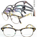 wholesales lot TR5253 retro TR90 combined with metal frame temple brow wing round shape optical frames free shipping