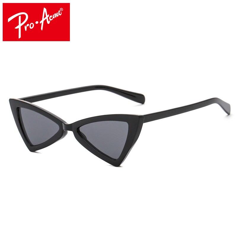 5ba8354bbc Pro Acme 2018 NOUVEAU Sexy Cat Eye lunettes de Soleil Vintage Triangle  Petits Verres Moderne Rétro Designer Femmes Lunettes de Soleil Nuances  CC0981 dans ...