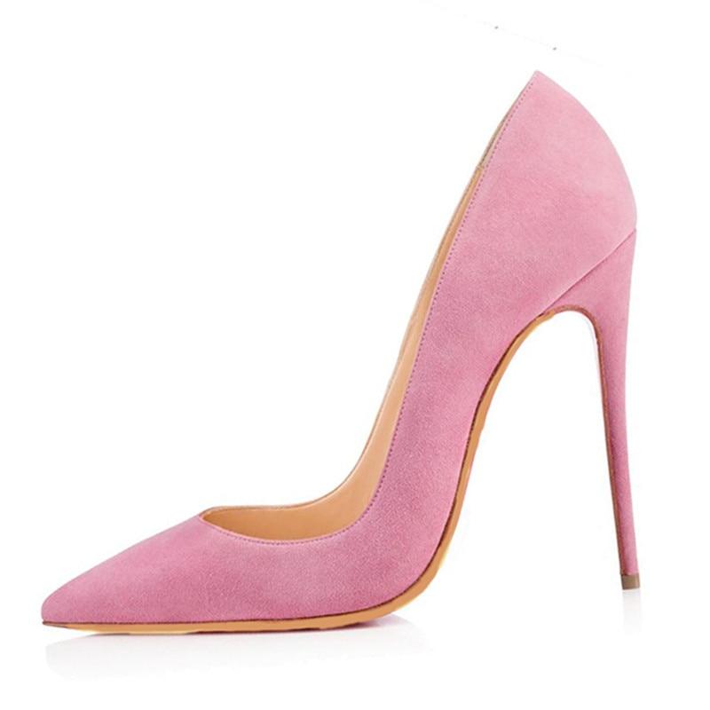 Hermosa Zapatos Punta Cm Rosado Tamaño 45 Cuero Estrecha De 34 La Bombas Cachemira Alto 11 Moda Rosa Zapatos Shofoo Libre Tacón Envío tw4q4pF