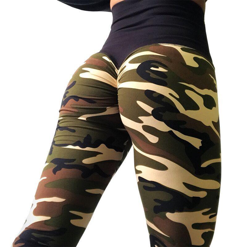 Camo Fitness   Legging   Butt Lift Leggins High Waist Green Purple Pink Camouflage Activewear American Style Printed   Legging   Soft