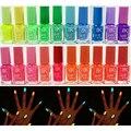 1 unids de Color Caramelo 4 colores 7 ml de Neón Fluorescente Luminoso Nail polaco Glow in Dark Laca de Uñas Ename para mujeres