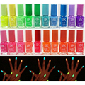 1pcs Candy Color 4 colors 7ml Fluorescent Neon Luminous Nail Polish for Glow in Dark Nail Varnish Nail Ename for Women