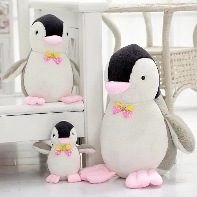 1pc 20/30/40cm Lovely Penguin Plush Toy Staffed Soft Penguin with Sound Doll Creative Birthday Gift for Children Kids Doll