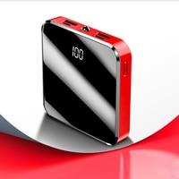 20000mAh Portable Mini Power Bank Phone Charger External Battery Mirror Screen Digital Display Poverbank For Smart Mobile Phone|Power Bank| |  -