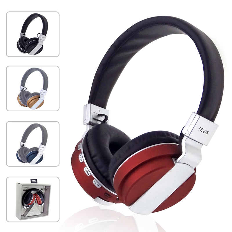 Best Quality Bluetooth Headset Wireless Headphones Stereo Foldable Sport Earphone Microphone Headset Bluetooth Earphone FE-018 original xiaomi sport bluetooth earphone wireless sport stereo headphones with microphone ip6 waterproof bluetooth 4 1 headset