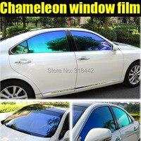 TXD CAR STICKER New Product Car Tinted Window Vinyl Chameleon Solar Film 1.52*30M by Free Shipping