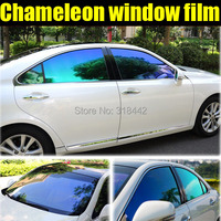 TXD CAR STICKER New Product Car Tinted Window Vinyl Chameleon Solar Film 1.52*30M by Free Shipping